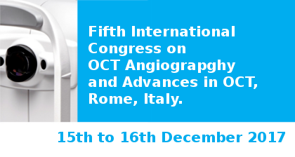 Fifth International Congress on OCT Angiograpghy and Advances in OCT in Rome visit our booth No. 3