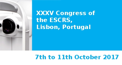 XXXV Congress of the ESCRS in Lisbon Visit our booth No. P161